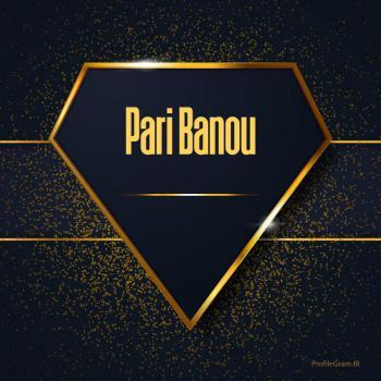 عکس پروفایل اسم انگلیسی پری بانو طلایی Pari Banou
