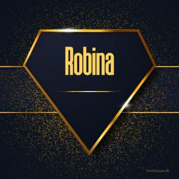 عکس پروفایل اسم انگلیسی روبینا طلایی Robina