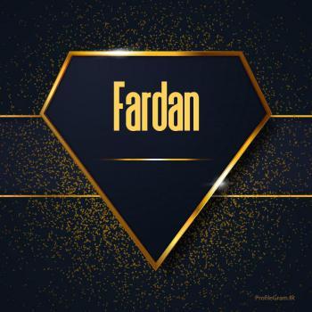 عکس پروفایل اسم انگلیسی فردان طلایی Fardan