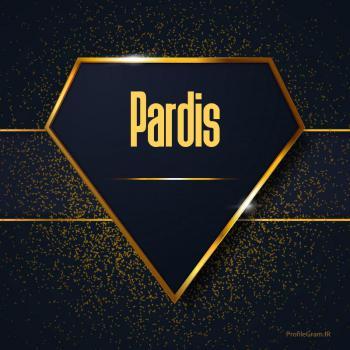 عکس پروفایل اسم انگلیسی پاردیس طلایی Pardis