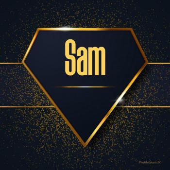 عکس پروفایل اسم انگلیسی سام طلایی Sam