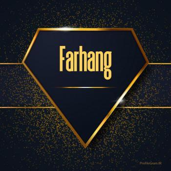 عکس پروفایل اسم انگلیسی فرهنگ طلایی Farhang
