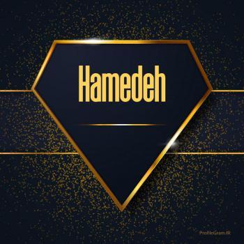 عکس پروفایل اسم انگلیسی حامده طلایی Hamedeh