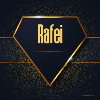 عکس پروفایل اسم انگلیسی رفیع طلایی Rafei