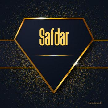 عکس پروفایل اسم انگلیسی صفدر طلایی Safdar