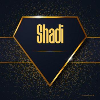 عکس پروفایل اسم انگلیسی شادی طلایی Shadi