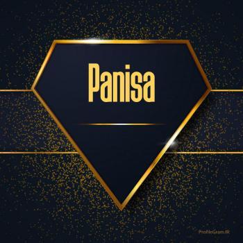 عکس پروفایل اسم انگلیسی پانیسا طلایی Panisa