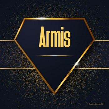 عکس پروفایل اسم انگلیسی آرمیس طلایی Armis