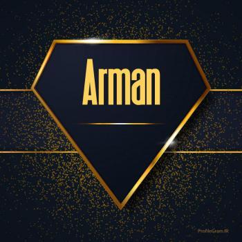 عکس پروفایل اسم انگلیسی آرمان طلایی Arman