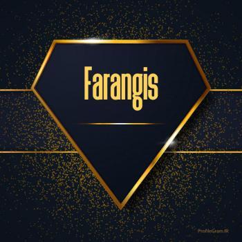 عکس پروفایل اسم انگلیسی فرنگیس طلایی Farangis
