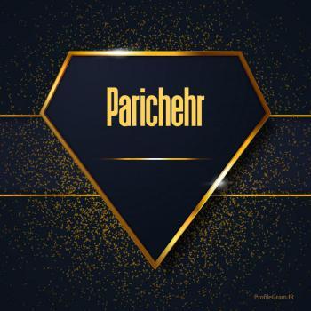 عکس پروفایل اسم انگلیسی پریچهر طلایی Parichehr