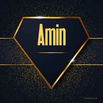 عکس پروفایل اسم انگلیسی آمین طلایی Amin