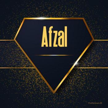 عکس پروفایل اسم انگلیسی افضل طلایی Afzal