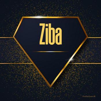 عکس پروفایل اسم انگلیسی زیبا طلایی Ziba