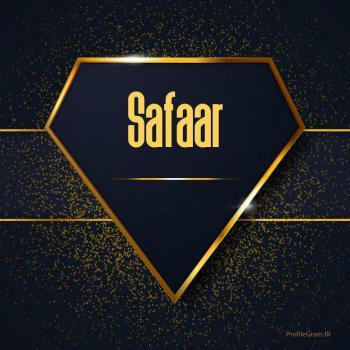 عکس پروفایل اسم انگلیسی صفار طلایی Safaar