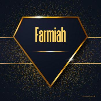 عکس پروفایل اسم انگلیسی فریماه طلایی Farmiah