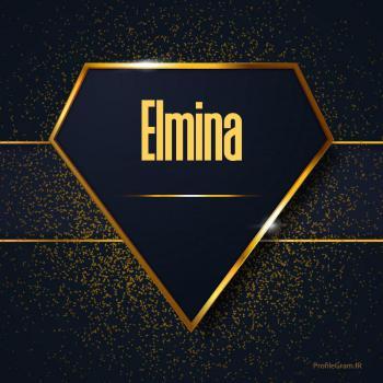عکس پروفایل اسم انگلیسی المینا طلایی Elmina