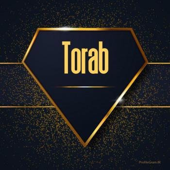 عکس پروفایل اسم انگلیسی تراب طلایی Torab