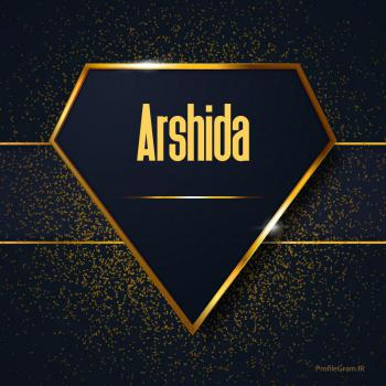 عکس پروفایل اسم انگلیسی آرشیدا طلایی Arshida