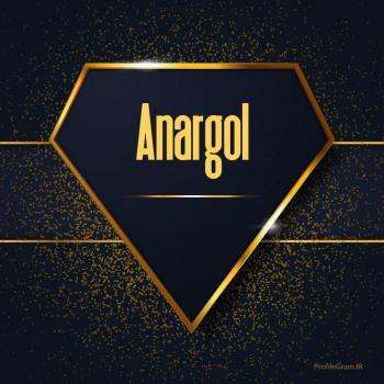 عکس پروفایل اسم انگلیسی انارگل طلایی Anargol