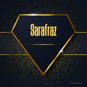 عکس پروفایل اسم انگلیسی سرافراز طلایی Sarafraz