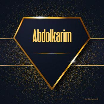 عکس پروفایل اسم انگلیسی عبدالکریم طلایی Abdolkarim
