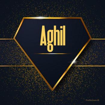 عکس پروفایل اسم انگلیسی عقیل طلایی Aghil