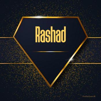 عکس پروفایل اسم انگلیسی رشاد طلایی Rashad