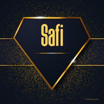 عکس پروفایل اسم انگلیسی صفی طلایی Safi