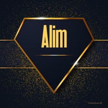 عکس پروفایل اسم انگلیسی علیم طلایی Alim