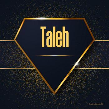 عکس پروفایل اسم انگلیسی طه طلایی Taleh