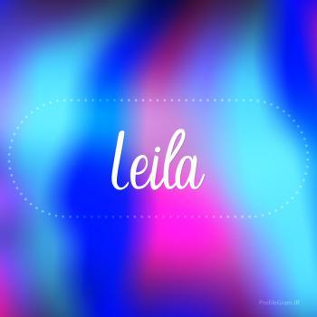 عکس پروفایل اسم لیلا به انگلیسی شکسته آبی بنفش