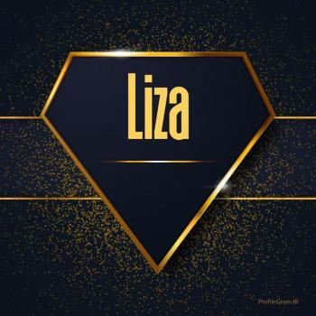 عکس پروفایل اسم انگلیسی لیزا طلایی Liza