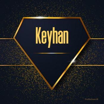 عکس پروفایل اسم انگلیسی کیهان طلایی Keyhan