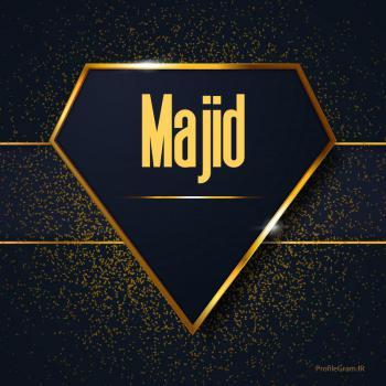 عکس پروفایل اسم انگلیسی مجید طلایی Majid