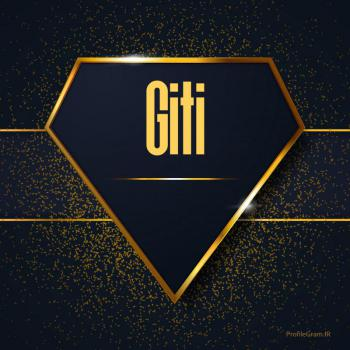 عکس پروفایل اسم انگلیسی گیتی طلایی Giti
