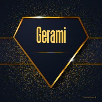 عکس پروفایل اسم انگلیسی گرامی طلایی Gerami