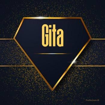 عکس پروفایل اسم انگلیسی گیتا طلایی Gita