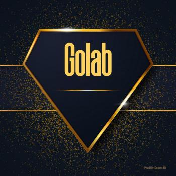 عکس پروفایل اسم انگلیسی گلاب طلایی Golab