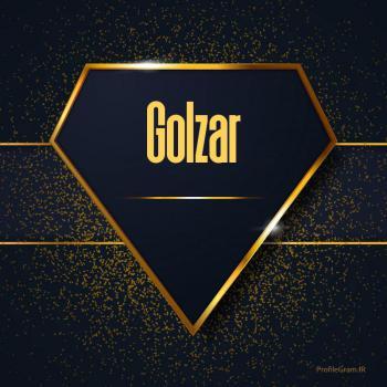 عکس پروفایل اسم انگلیسی گلزار طلایی Golzar