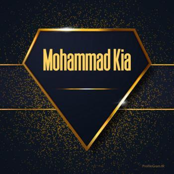 عکس پروفایل اسم انگلیسی محمد کیا طلایی Mohammad Kia