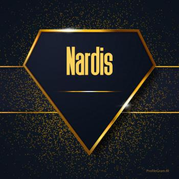 عکس پروفایل اسم انگلیسی ناردیس طلایی Nardis