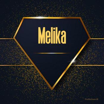 عکس پروفایل اسم انگلیسی ملیکا طلایی Melika