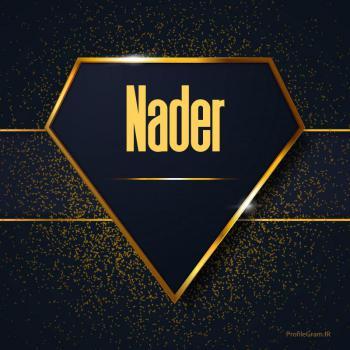 عکس پروفایل اسم انگلیسی نادر طلایی Nader