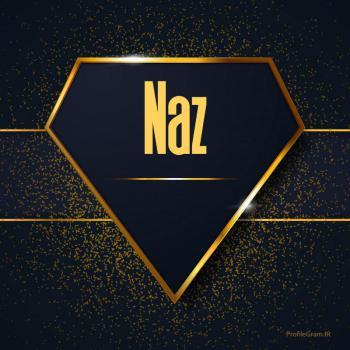 عکس پروفایل اسم انگلیسی ناز طلایی Naz