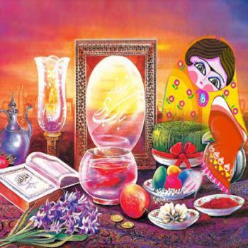 عکس پروفایل نوروز مبارک با سفره هفت سین سنتی