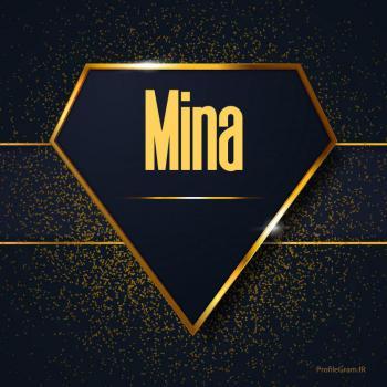 عکس پروفایل اسم انگلیسی مینا طلایی Mina