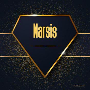 عکس پروفایل اسم انگلیسی نارسیس طلایی Narsis