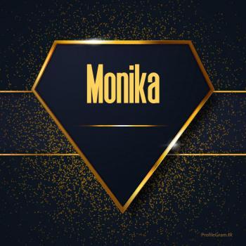 عکس پروفایل اسم انگلیسی مونیکا طلایی Monika