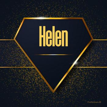 عکس پروفایل اسم انگلیسی هلن طلایی Helen